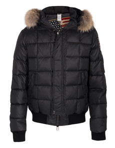 TRUE RELIGION Padded Quilt Fur Black