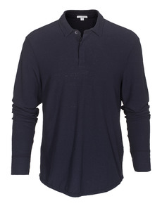 JAMES PERSE Spaced Jersey Polo Midnight