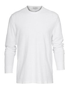 JAMES PERSE Clean Jersey Long White