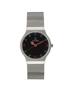 TOYWATCH Mesh Small Silver Red