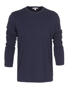 JAMES PERSE Long Sleeve Crew Neck Dark Blue