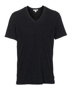 JAMES PERSE Short Sleeve V-Neck Black