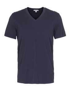 JAMES PERSE Short Sleeve V-Neck Dark Blue
