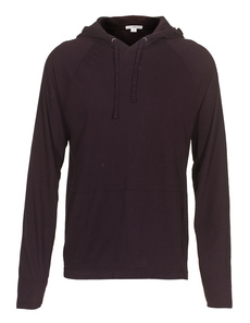 JAMES PERSE Cotton Hood Bordeaux
