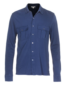 JAMES PERSE Jersey Shirt Jacket Blue