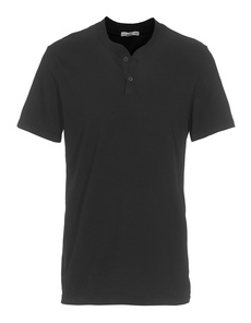 JAMES PERSE Sanded Henley Black