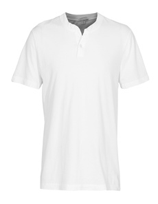 JAMES PERSE Sanded Henley White