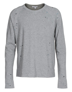JAMES PERSE Paint Splatter Fleece Heather Grey