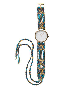 TOYWATCH Maya Wool Turquoise Woven Gold