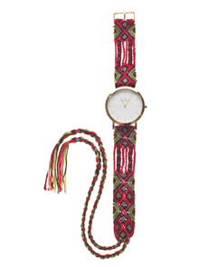 TOYWATCH Maya Wool Red Woven Gold