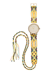 TOYWATCH Maya Wool Yellow Woven Gold