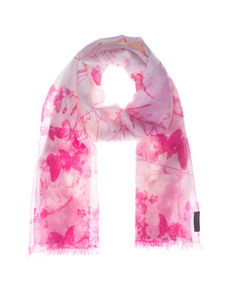 ALBEROTANZA Pashmina Butterfly Letter Pink