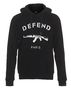 Defend Paris Logo Hoodie Black