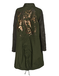 CAMOUFLAGE COUTURE STORK M 65 Vintage Military Green Bronze Tiger