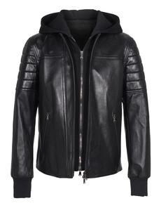 NEIL BARRETT Biker Hood Black