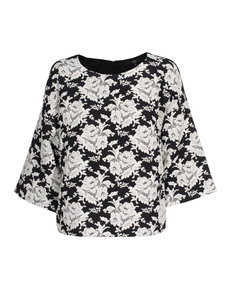 TIBI Floral Tapestry Black White