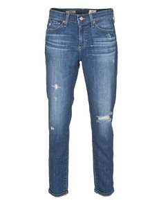 AG ADRIANO GOLDSCHMIED  The Beau Slouchy Skinny Distressed Fly