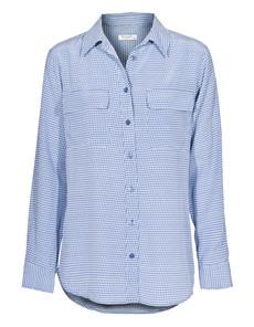 EQUIPMENT Slim Signature Blue Jean Bright White