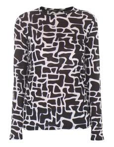 PROENZA SCHOULER Printed Maze Tissue Marine Black