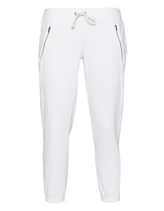 Pam&Gela Zip Crop Pant White