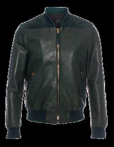 JOSEPH Rib Leather Dark Green