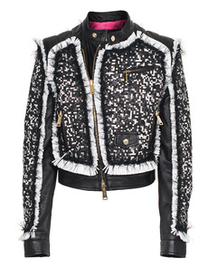 DSQUARED2 Biker Black and White