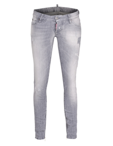 DSQUARED2 Skinny Jean Short Crotch Tight Bottom Grey