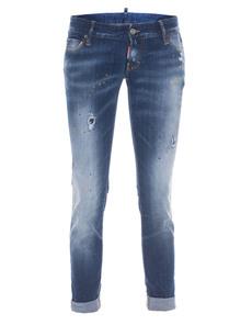 DSQUARED2 Pat Short Crotch Tight Bottom Crop Blue