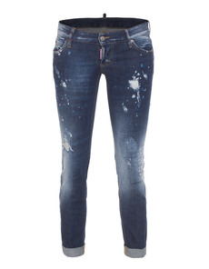 DSQUARED2 Pat Short Crotch Tight Bottom Splash Roll Blue