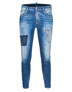 DSQUARED2 Linda Medium Crotch Slim Bottom Mid Blue