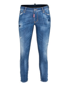 DSQUARED2 Cropped Medium Crotch Tight Bottom Mid Blue