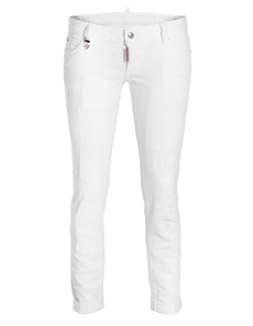 DSQUARED2 Pat Short Crotch Tight Bottom White