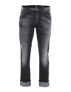 SEVEN FOR ALL MANKIND Relaxed Skinny Ultimate Icy Black
