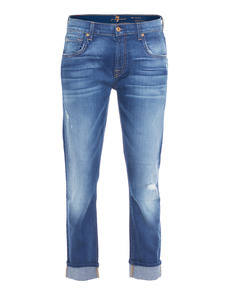 SEVEN FOR ALL MANKIND Relaxed Skinny Bright Skies Blue
