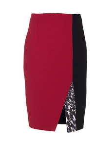 PETER PILOTTO Contrast Kyra Pencil Burgundy