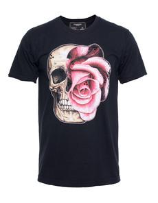 DOM REBEL Skull Flower Black