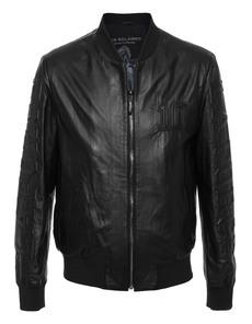 LES ÉCLAIRES Bomber Leather Black