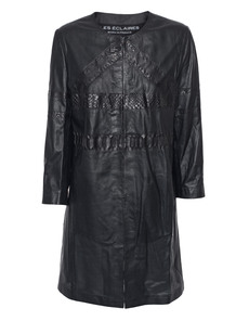 LES ÉCLAIRES Leather Cobra Queen Black