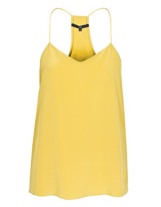 TIBI Signature Silk Cami Yellow Ochre