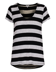 SPLENDID Stripe Drapey Lux Grey Black
