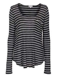 SPLENDID Casual Knit Stripe Black