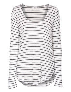 SPLENDID Casual Knit Stripe White