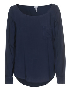 SPLENDID Boatneck Pocket Navy
