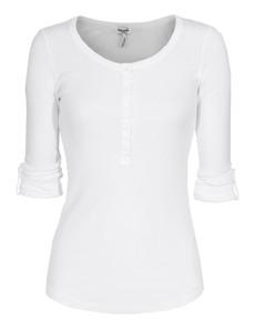 SPLENDID Buttons Jersey White