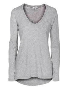 SPLENDID Very Light Jersey Scoop Heather Grey