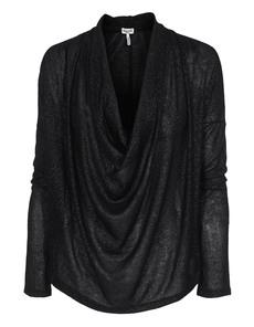 SPLENDID Drapey Lux Cowl Black Silver