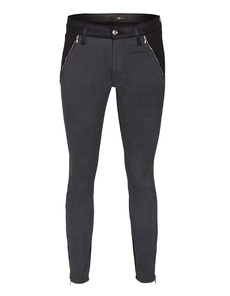 SEVEN FOR ALL MANKIND The Skinny Two-Tone Coated Black