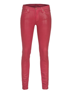 SEVEN FOR ALL MANKIND The Skinny Leather Look Winegum