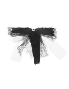 Maison Michel Demi Chiffon Lace Black