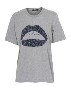 MARKUS LUPFER Graphic Lara Lips Sequin Grey